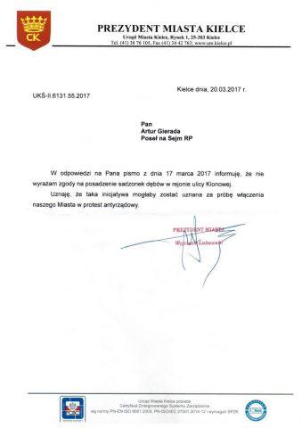 """Prezydent Kielc zabrania sadzenia drzew. """"Mogłoby to wyglądać na protest antyrządowy"""""""