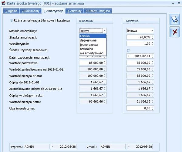 Pakiet Comarch ERP Optima Doradca Podatkowy PLUS - ekran drugi