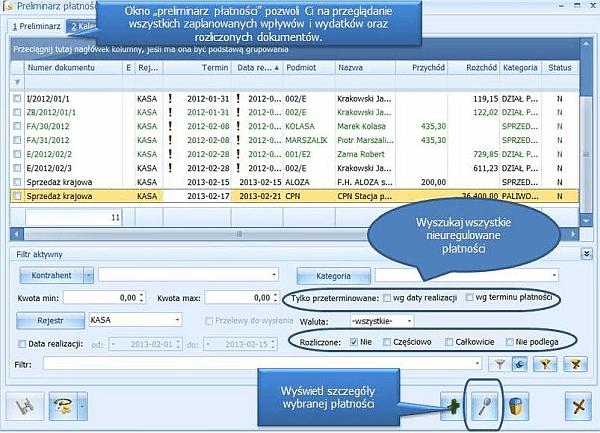 Pakiet Comarch ERP Optima Doradca Podatkowy START - ekran pierwszy